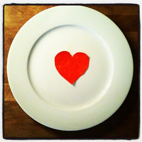 love_on_plate