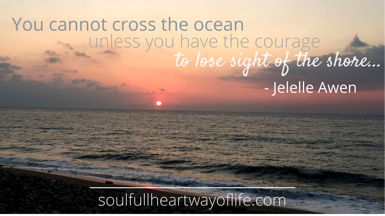 You cannot cross the ocean unless you have the courage to lose sight of the shore (2)