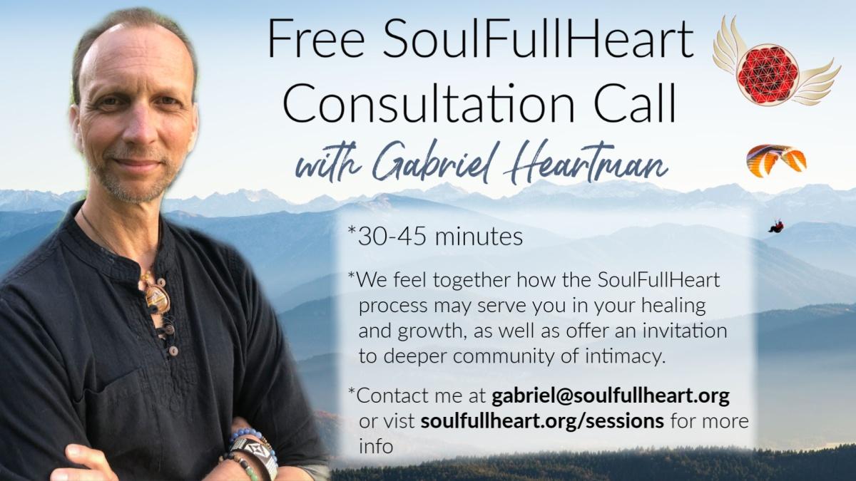 Chamadas de consulta gratuitas com Gabriel Heartman - SoulFullHeart Experience 1